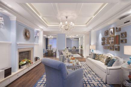 天津大成国际美式风格三居室装修效果图