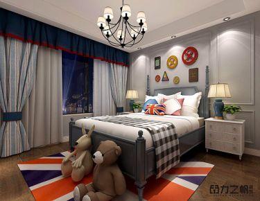 嘉兴盛世豪庭美式风格四居室装修效果图