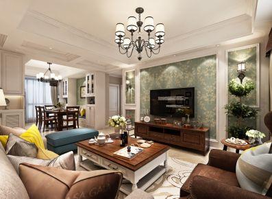 武汉浪漫美式三居室装修案例