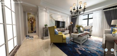 武汉沙湖港湾美式风格四居室装修案例