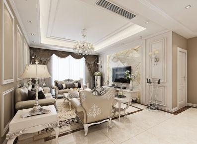 武汉银湖城欧式风格三居室设计案例