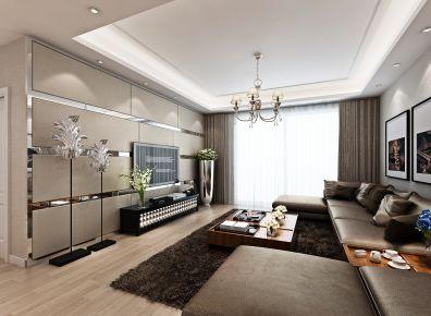 武汉新奥.依江畔园简约风格三居室装修效果图