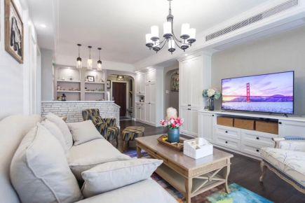 长沙润和之悦美式风格三居室装修效果图