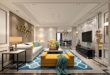 长沙新华联梦想城现代风格三居室装修案例