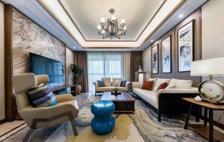 长沙御文台新中式四居室装修效果图