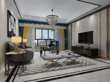 现代简约三房装修设计 简约风格家庭装修效果图