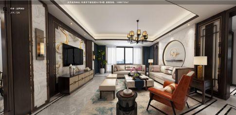 温州铂金湾新中式风格三房装修设计