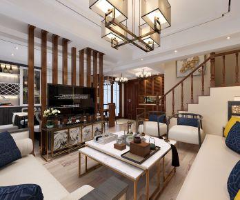 中式风格三居室装修效果图  宁波骆城方洲小区