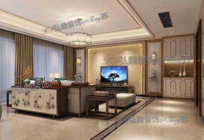 万科金域滨江250平方新中式风格
