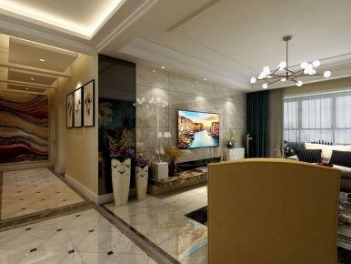 现代大宅装修 现代简约风格三房装修效果图
