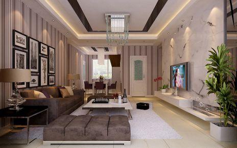 津湖湾新中式风格三房装修设计 中式风格家庭装修效果图
