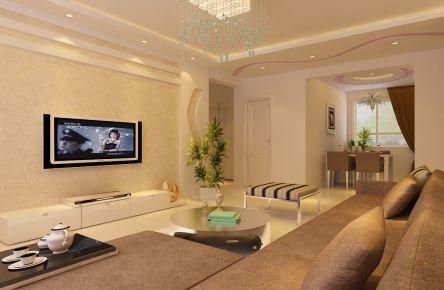 天津八方观园简约风格三居室装修效果图