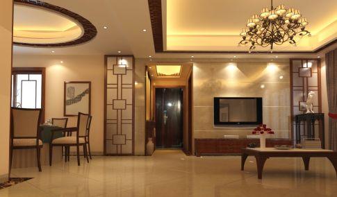 海口海航北苑中式风格四居室装修效果图