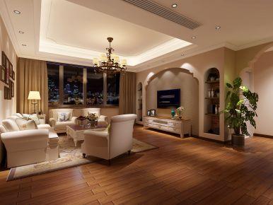 宁波院士花园中式风格三居室设计效果图
