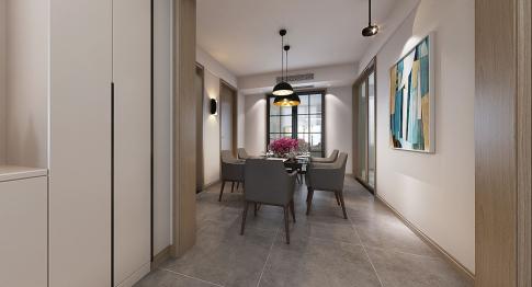 宁波风格首岸中式三居室设计案例