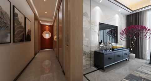 宁波中海国际中式三居室装修效果图
