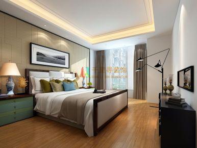 扬州御峰华府中式风格三居室装修案例