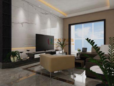 扬州雅居乐国际现代三居室装修案例