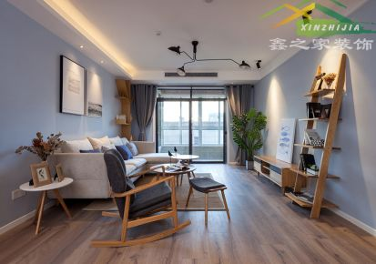 80平新海尚宸家园室内三居设计
