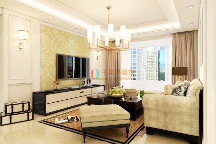 扬州上方公馆现代风格三居室装修效果图