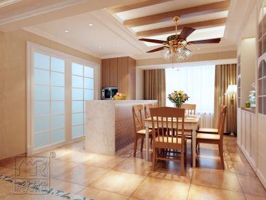 泉州聚福小区中式三居室装修案例