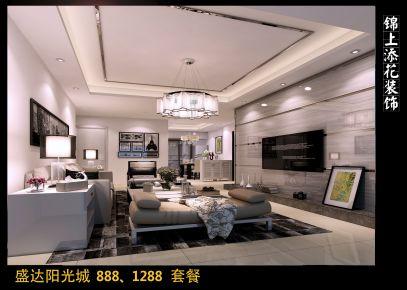 泉州盛达阳光城简约风格三居室装修效果图