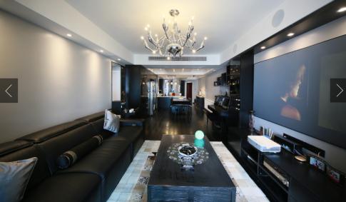 武汉世纪江尚现代简约三居室装修效果图