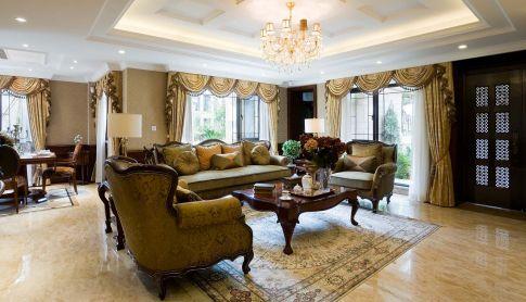 龙湖花千树美式风格三房装修设计效果图欣赏