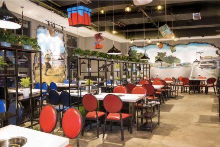 武汉汉街万达餐厅装饰效果图