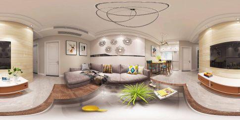无锡金科世界城现代风格三居室装修效果图
