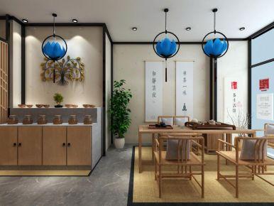 廊坊曙光道茶馆中式风格装修案例
