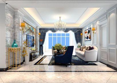 欧式风格三居室装修案例