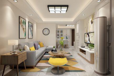 现代风格两房装修设计效果图 宁波下塘曙光苑
