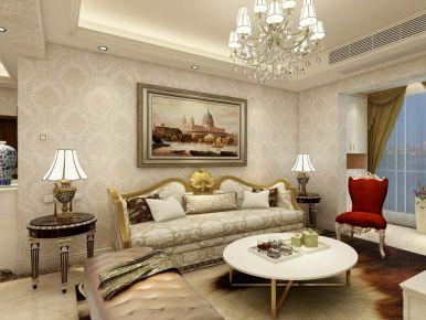 欧式风格三居室设计效果图