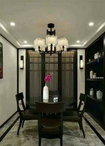 无锡中海珑玺新中式风格四居室装修案例