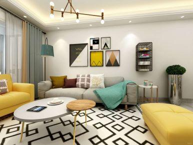 北欧风格三居室设计效果图