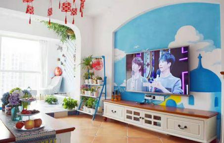 无锡维纳阳光地中海风格两居室装修效果图