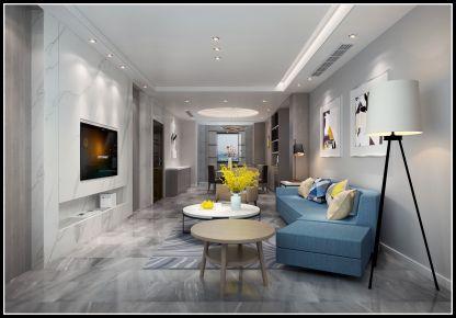 无锡橡树湾现代风格两居室装修案例