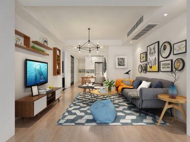 简约风格两房家庭装修设计 宁波印象外滩