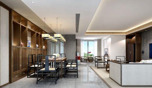 漳州钱隆首府中式风格三居室设计案例