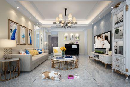 现代风格两房装修设计效果图 宁波翡翠华庭