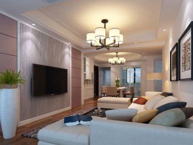 现代风格三房装修设计效果图 宁波惊驾名庭