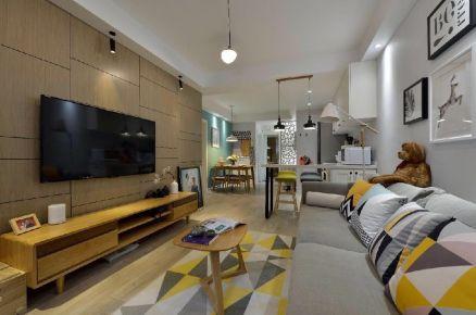 北京石景山区远洋山水现代风格三居室装修案例