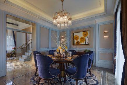 珠海珠海五洲花城欧式三居室装修效果图