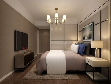 武汉中央花园城后现代简约风格三居室装修案例