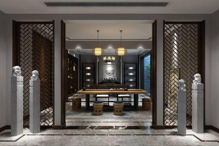 古涧堂别墅项目装修新中式风格设计