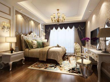 武汉保利城欧式风格三居室装修效果图