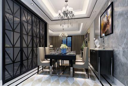 武汉澜侨公馆新古典风格四居室装修效果图