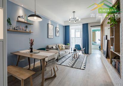 89平绿怡居三居室内设计案例