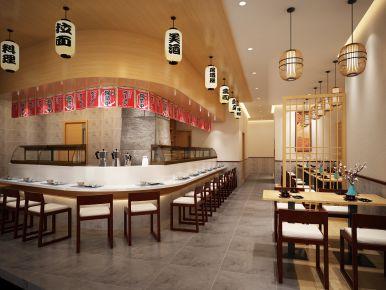 珠海吉大铺面日式料理店装修效果案例